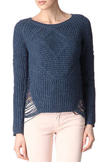 MAJE Aero knitted jumper