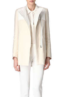 MAJE Aldo leather-trimmed coat