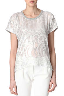 MAJE Amanda metallic top