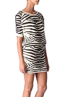 MAJE Appriori zebra sweater dress
