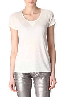 MAJE Athee brushed silk t-shirt