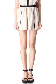 MAJE Camo metallic mini skirt