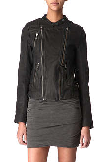 MAJE Robbie leather jacket
