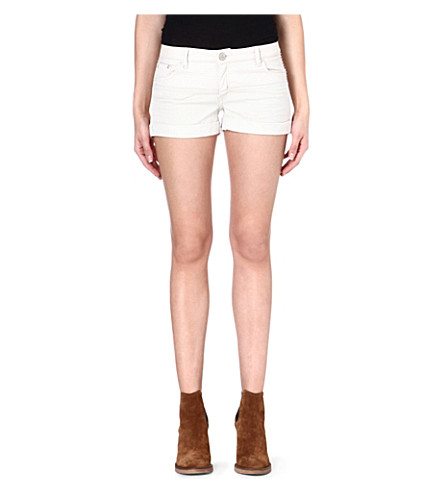 MAJE Denim shorts (Ecru