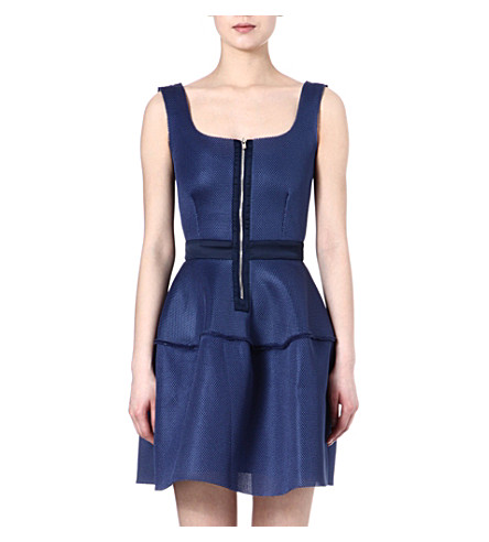 MAJE Divas basket fabric dress (Bleu