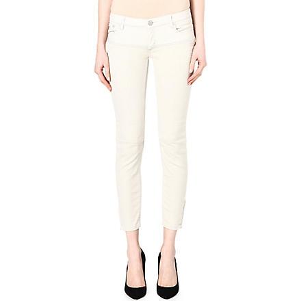 MAJE Domuald belted jeans (Ecru