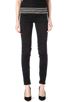MAJE Downtown slim jean with quilted sewing