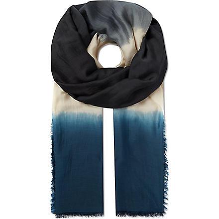 MAJE Earn tie & dye scarf (Bleu