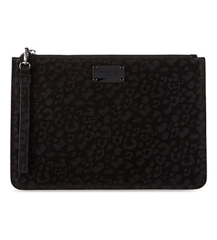 MAJE Edelina leopard printed pouch (Black