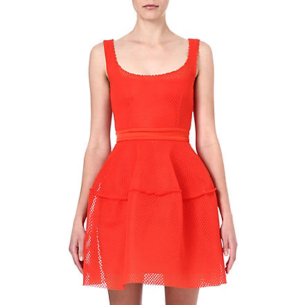 MAJE Edivas mesh dress (Orange