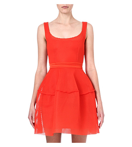 MAJE Edivas mesh dress (Orange