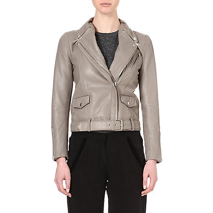 MAJE Leather jacket (Gris