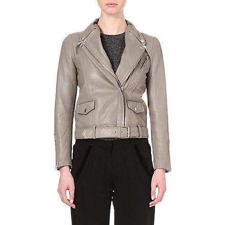 MAJE Edouard grey moto jacket (Gris