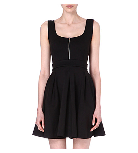MAJE Edwige neoprene dress (Noir