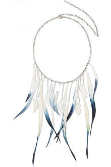 MAJE Elated feather necklace