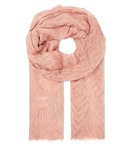 MAJE Elder modal scarf (Terracotta