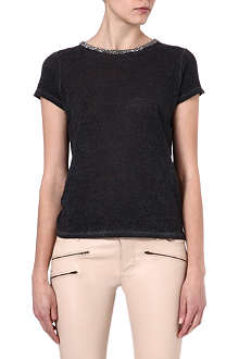 MAJE Electric embellished t-shirt