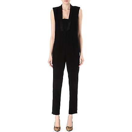 MAJE Elfie tuxedo jumpsuit (Black