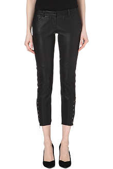 MAJE Cropped leather trousers