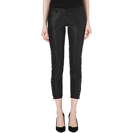 MAJE Elie leather trousers (Noir