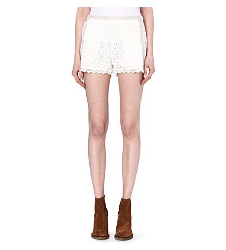 MAJE Elucide lace shorts (Ecru