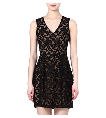 MAJE Elvira embroidered dress (Noir