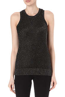 MAJE Elvis lurex vest top