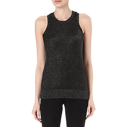 MAJE Lurex vest top (Black