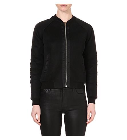 MAJE Elyana mesh bomber jacket (Noir