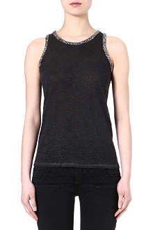 MAJE Email embellished sleeveless top