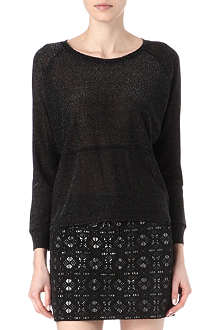 MAJE Emanuel lurex knitted jumper