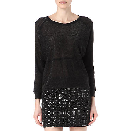 MAJE Lurex knitted jumper (Noir