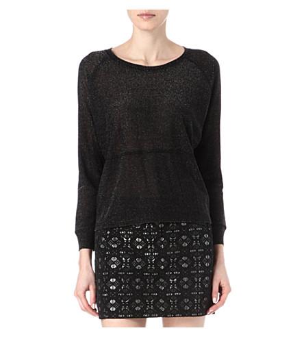 MAJE Emanuel lurex knitted jumper (Noir