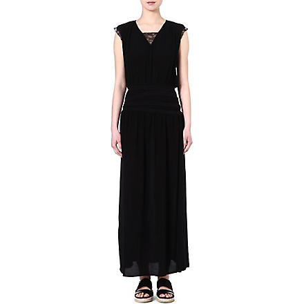 MAJE Emeu maxi dress (Black