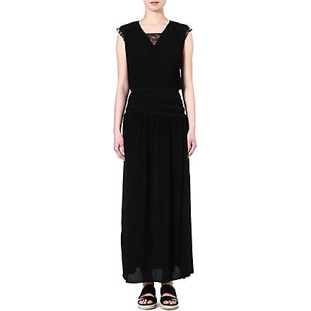 MAJE Emeu maxi dress (Black