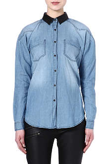 MAJE Emilio denim shirt