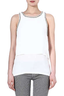 MAJE Emir embellished sleeveless top