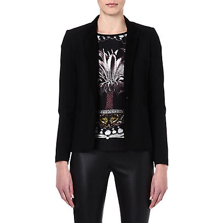 MAJE Enes fitted jacket (Black