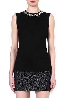 MAJE Enlever embellished top