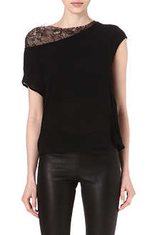 MAJE Lace insert top