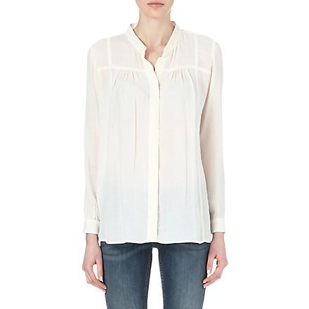 MAJE Envol crepe shirt (Ecru