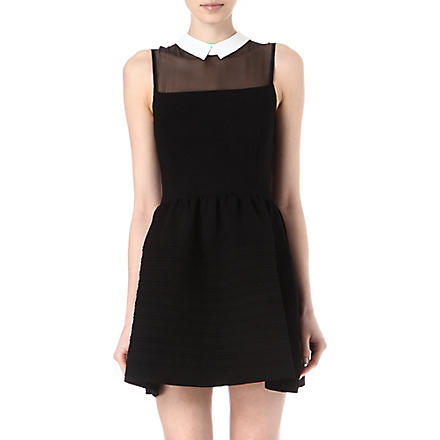 MAJE Eponime collard dress (Noir