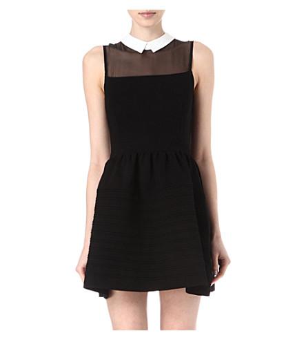 MAJE Eponime collard dress (Noir