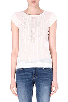 MAJE Erletty lace-detailed t-shirt