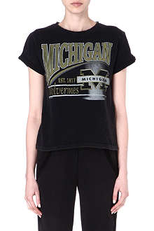 MAJE Erold Michigan print t-shirt