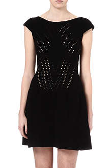 MAJE Eryne laser cut-out dress