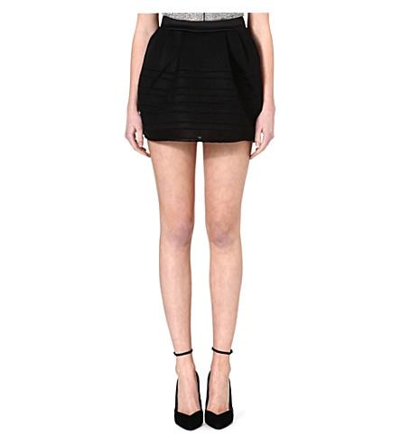 MAJE Essage mesh skirt (Black