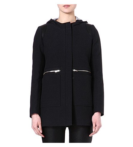 MAJE Etrange coat (Black