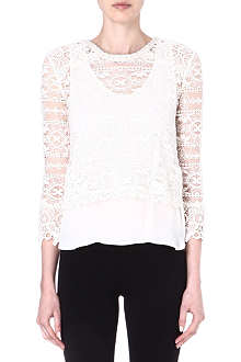 MAJE Eudiane lace top