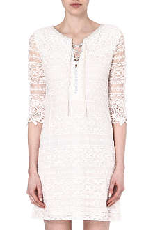 MAJE Eudine lace-detailed dress